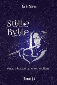 Cover des ersten Bandes, das die Muse Euterpe bei Nacht zeigt. Sie trägt nicht die klassische Doppelflöte bei sich sondern eine moderne Querflöte.